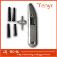 tyre gauge with inflating nozzles and needle