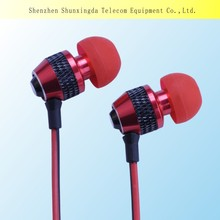 SXD Stylish metal earphone headset for cell phone MP3