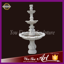hand Carved Beutiful White marble water fountain for sale
