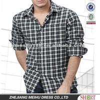 man's fashion long sleeve slim fit plaid brushed hawaiian shirt