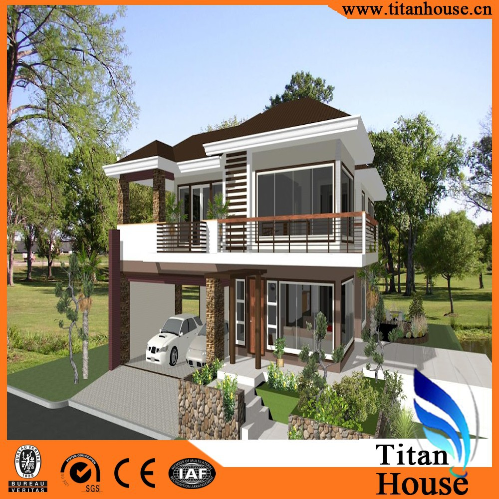 Low cost prefabricated light steel frame house buy low for A frame cost