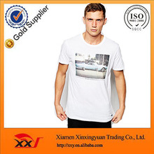 new design 92 polyester 8 elastane white t shirt fashion sublimation t shirt t-shirt manufactures in guangzhou