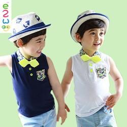 2015 Summer Wholesale Sleeveless Kids Korea Boys T shirt