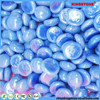 Professional manufacturer flat round colorful 8mm-50mm double checker oval glass gems