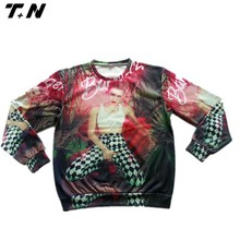 OEM cheap price high quality ladies' full sublimation printing sweatshirt