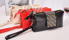 Custom Rivets Clutch Wallet Bag Vintage Women's Evening Purse Wallet Handbag