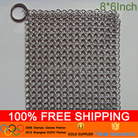 Chain Mail Pot Scrubber Cleaner Scrub Cast Iron Pan Cookware Clean Dishes