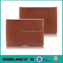 2015 new design slim folio leather laptop sleeve for MAC Air 13 inch