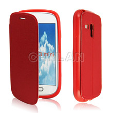New product leather flip case for Sumsung Galaxy S3 mini