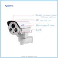 High quality 4x optical zoom ptz IP Camera 4.0MP HD IR Water-proof AutoFocus Varifocal 2.8-12mm Bullet CCTV camera