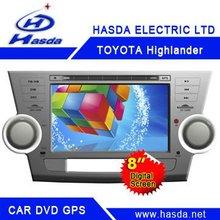 Toyota hilghlander car dvd players gps ,Bluetooth ,car radio ,tv,ipod,usb support