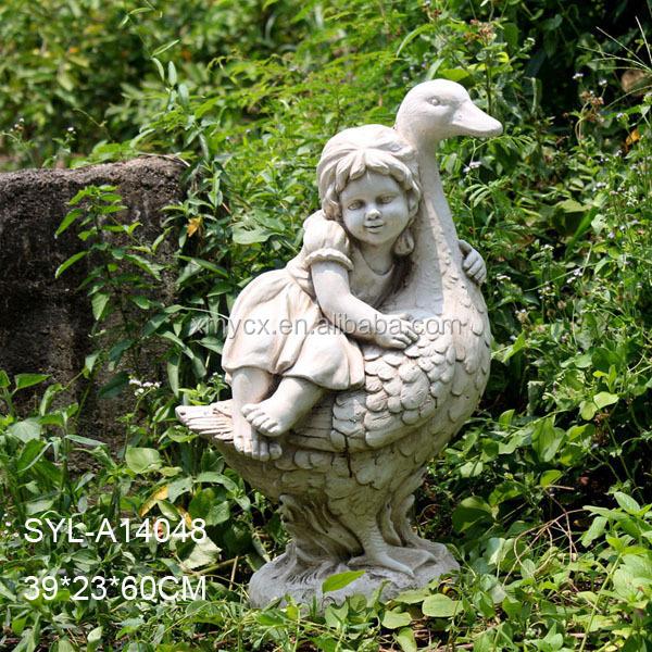 MGO Garden Landscaping Sculpture Little Girl Statue