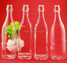 Water bottles clear glass water bottle 1000 ml water bottle