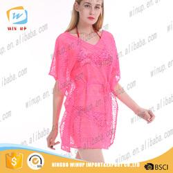 Custom new arrival wholesale sexy net dress women pink nighty dress