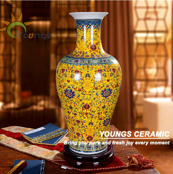 Unique Chinese Large Floor Blue Ceramic Flower Vases Wholesale View