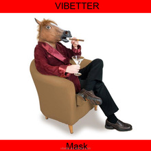 MK-224 full head horse mask Halloween Costume Theater Prop High quality Novelty Latex Rubber Horse Head Animals Mask