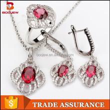 unique ruby and emerald gemstone dubai gold jewelry set manufacturer wholesale