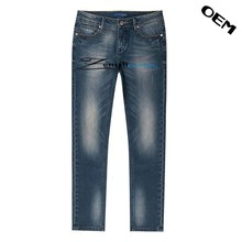 Latest design European stylish Straight washed jeans,high quality blue ripped men jeans design
