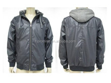 Men's PU hoody jacke tstocks