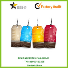2015 colorful recyclable and washable promotional Paper Tag, nice paper tag