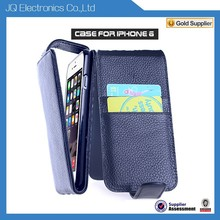 Accept Low MOQ PU+TPU Up And Down Flip Cover+Card Pocket For Iphone 6