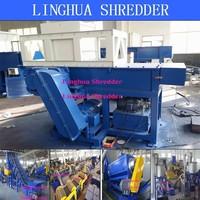 double shaft food shredder cutting machine with good quality