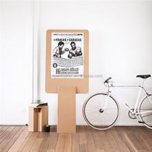 2015 new design cardboard notice board for shop promotion