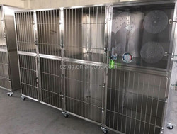 Stainless steel cage bank with Oxygen cage Vet cage bank pet show cage bank