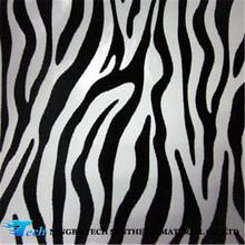 Cebra diseno/zebra modeo de pu sintético cuero/cueros artificials para calzado /bolsa/tapiceria con precio bajo calidad alta