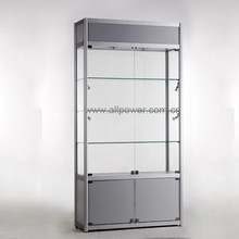 Stand glowing glass vitrine cabinet watch display case