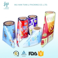 snack food packaging film/laminated food grade plastic packaging film for candy/cookie/biscuit/cake
