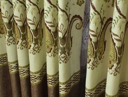 Jacquar Lined Curtain with Pole Pocket and Tape for best sell