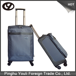 Iron grey polyester carbon fiber luggage