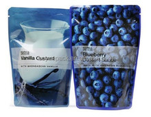 Aluminium foil dried blueberry bag with ziplock,stand up blueberry bag with clear window,resealable printed blueberry bag