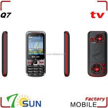 Q7 dual sim analog tv mobile phone