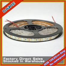 3528 SMD LED Flexible Tape 120LED/M Strip Light Waterproof IP65 White/Warm white 600LED/Roll Super Brightness CE/RoHs Brand New