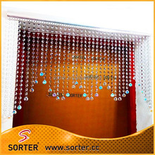 Beautiful iridescent crystal diamond beaded curtain for wedding & home decoration