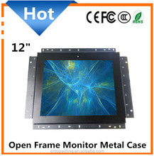 Metal Case 4:3 Square 12 inch LCD Open Frame Touch Screen Monitor