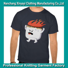China Import Blank T Shirts Clothing / 95 Cotton 5 Spandex T Shirts / Black T Shirt for Sale with Print Made in China