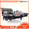 Mobile jaw Crusher, ZENITH portable crusher,100 tph mobile primary crusher
