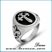 fashion men's titanium wood ring