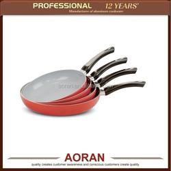 4pcs aluminium pressed frying pan set with grey ceramic coating, aluminium cookware, aluminium kitchenware set, cookware set