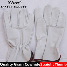 Straight Thumb AB grade cowhide leather gloves for driving