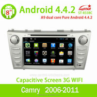 Android 4.4 7 inch Toyota Camry 2006-2011 car dvd player with dvd/cd/mp3/mp4/bluetooth/ipod/radio/pip/tv/gps/