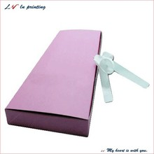 custom hair extension packaging box/ hair extentions boxes with white ribbon/ box for wig entension wholesale