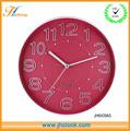 Púrpura de plástico reloj de pared moderno promation de diseño relojes de cuarzo