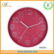 Purple plastic wall clock modern design promation quartz clocks