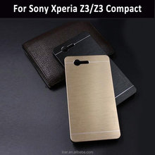 Enough in stock Motomo Aluminum Metal Hard cover for sony xperia z3 compact case