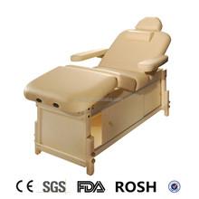 hot sale beauty wooden Professional Stationary physiotherapy spa salon SKD liftback massage table