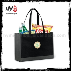Super foldable non woven shoping bag, cheap logo shopping tote bags, nonwoven fabric bag